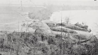 Another view of Battery Abbot on the James River (near the water's edge).