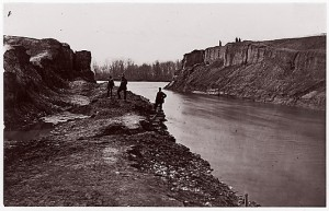 Dutch Gap Canal filled with water (1865)